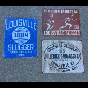Other - ⚡️New Items In! Louisville Slugger Baseball Signs